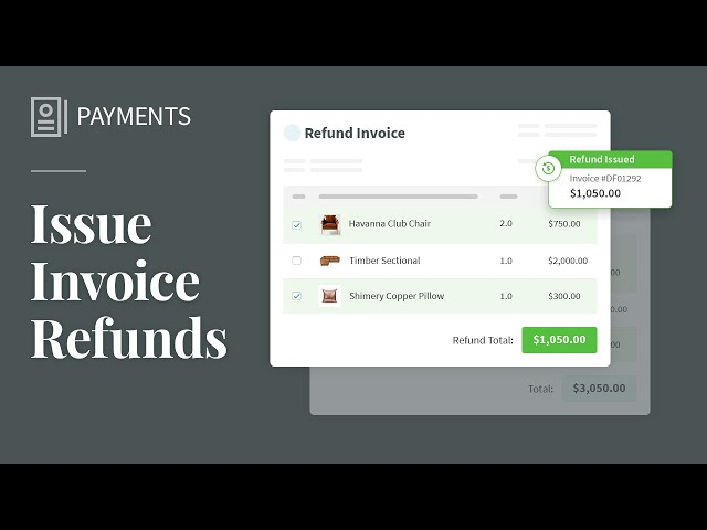 Issue Invoice Refunds
