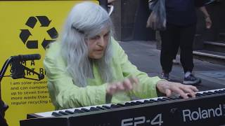 84 Year Old Street Pianist Natalie Trayling - She just walks up to the piano and composes.