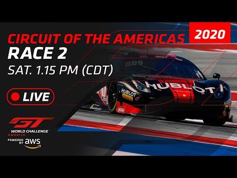 2020年 ブランパンGTワールドチャレンジ・アメリカ(サーキット・オブ・ジ・アメリカズ)Race2フル動画