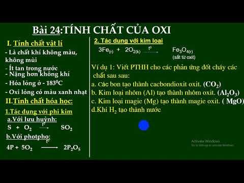 BÀI GIẢNG TRỰC TUYẾN HÓA HỌC 8, BÀI 24: TÍNH CHẤT CỦA OXI (Tiết 1)