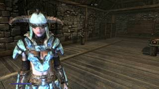 Skyrim Special Edition Mod Review LIght Refracting Stalhrim Armor and Weapons