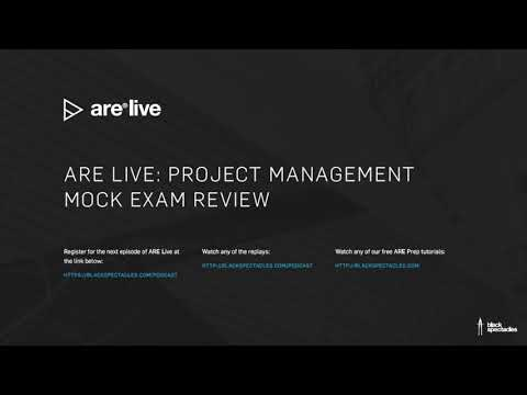 ARE Live: Project Management Mock Exam - 2018 - YouTube