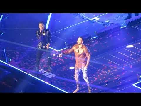 ROMEO SANTOS x OZUNA Live HD - El Farsante GOLDEN TOUR Concierto En Vivo HD NYC MSG