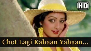 Chot Lagi Kaha - Jeetendra - Sridevi - Ghar Sansar   - YouTube