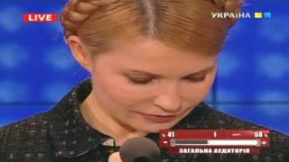 Юлия Тимошенко расплакалась в прямом эфире