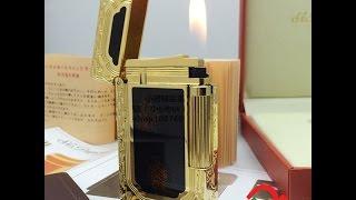 Bật lửa Dupont hoa văn vàng nền đen D35 | Deva.vn | Giá 650.000 Đ