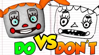 DOs & DON'Ts Drawing Five Nights At Freddy's HELP WANTED PLUSH BABY In 1 Minute CHALLENGE!