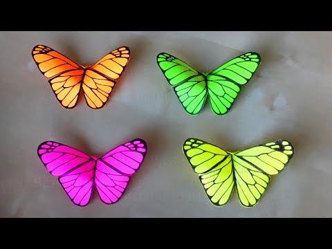 Origami Schmetterling basteln mit Papier - Deko für Zimmer selber machen - DIY Geschenk. Bastelideen