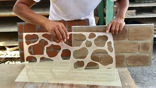 COMO HACER PLANTILLAS PARA ESTAMPADOS EN CEMENTO / how to make fiberglass stencils