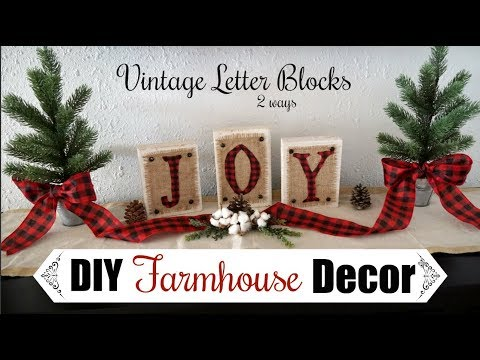 DIY CHRISTMAS DECOR | Farmhouse Diy Decor Blocks | Momma From scratch
