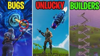 It CAME OUT of the Sky Crack?! BUGS vs UNLUCKY vs BUILDERS! Fornite Battle Royale Funny Moments