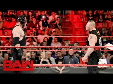Brock Lesnar steps into the fire with Kane: Raw, Jan. 1, 2018