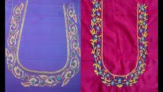 Simple Blouse Embroidery Designs म फ त ऑनल इन