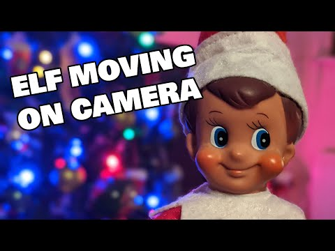 Elf On The Shelf Moving On Camera At Night