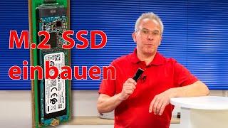 M.2 SSD in externes USB Gehäuse einbauen und einrichten - M.2 SSD Einbau für Anfänger