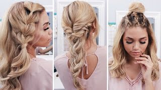 3 Easy Boho Spring Hairstyles | Coachella Hairstyles | Ashley Bloomfield