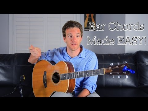 Bar Chords Made Easy for Guitar (The F Chord)