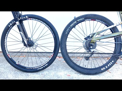 Slick Road Tires On A Mountain Bike