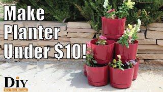 Dollar Tree Flower Pot Ideas, DIY Stacking Planters - DIY Project Under $10