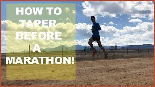 HOW TO TAPER BEFORE A MARATHON (OR HALF MARATHON /ULTRA) Sage Canaday Running Training