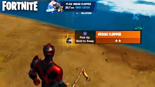 I Caught the Midas Flopper + Gameplay! (Fortnite 1% Fish)