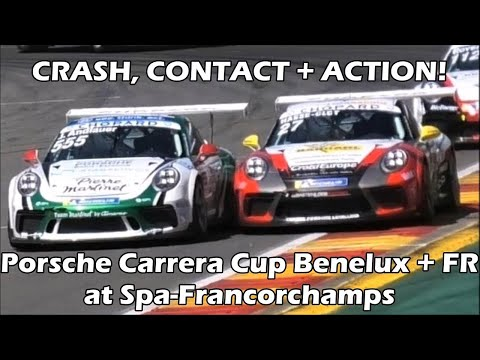 CRASH + ACTION! Porsche Carrera Cup Benelux + France at Spa-Francorchamps 2018