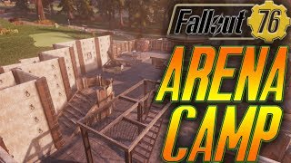 fallout 76 base building | make an arena style camp in fallout 76