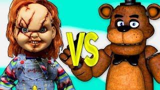 ЧАКИ VS ФРЕДДИ 5 НОЧЕЙ С ФРЕДДИ | СУПЕР РЭП БИТВА | Chucky Doll movie ПРОТИВ 5 Nights At Freddy