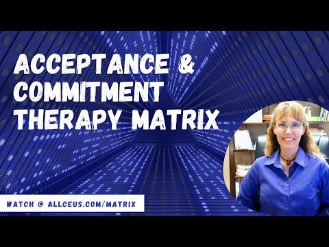 ACT Matrix   A Cognitive Behavioral Tool to Address Anxiety and ...