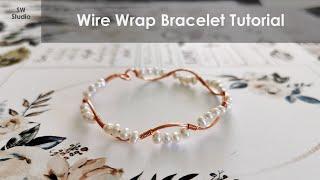 Pearl Bracelet / Wire Wrap Bracelet Tutorial / DIY Accessories / DIY Jewelry