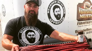 How to make Deer Smokies (sticks) & smoke them on a pellet grill, by The Bearded Butchers!