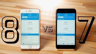 iPhone 8 Plus vs 7 Plus Performance Test - A11 Bionic Processor