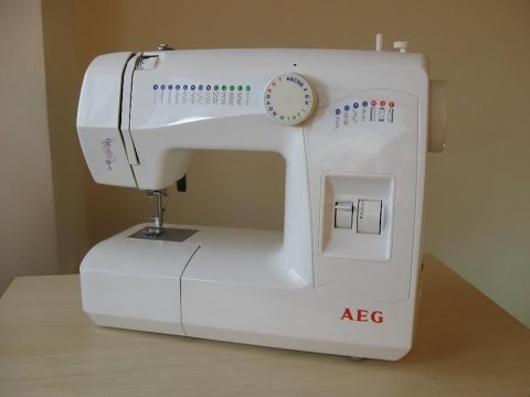 AEG 11220 Nähmaschine Sewing machine Швейная машина test