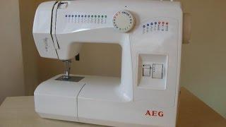 AEG 11220 Nähmaschine Sewing machine Швейная машина test