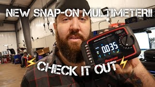 NEW SNAP ON MULTIMETER FIRST LOOK AND REVIEW   EEDM596F