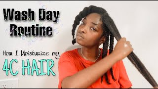 Wash Day Routine On Long 4C Natural Hair