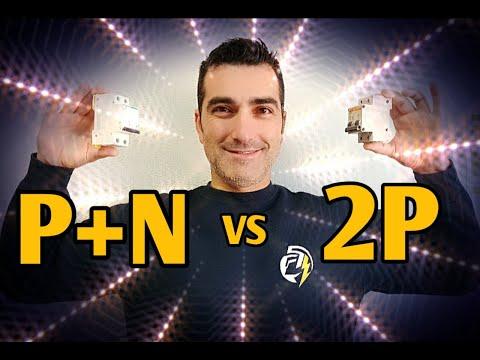 DIFERENCIAS ENTRE P+N Y 2 POLOS