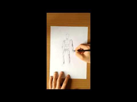 Zeichnen Lernen Gliederpuppe zeichnen