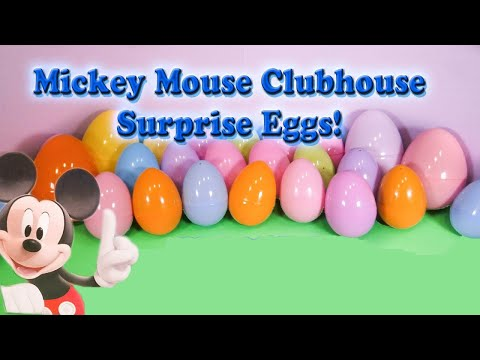 MICKEY MOUSE CLUBHOUSE Disney Mickey Mouse Funny Surprise Eggs  Toys and Candy Video
