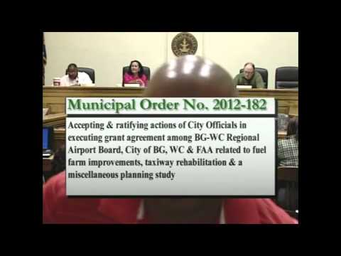 10/2/12 Board of Commissioners Regular Session