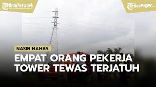Empat Orang Pekerja Tower SUTET Tewas Terjatuh dari Ketinggian 30 Meter