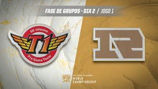 Mundial 2019: Fase de Grupos - Dia 2 | SK Telecom T1 x Royal Never Give Up (Jogo 1)