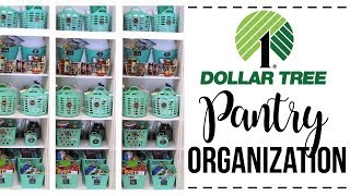HOW TO ORGANIZE YOUR PANTRY // Dollar Tree Organization