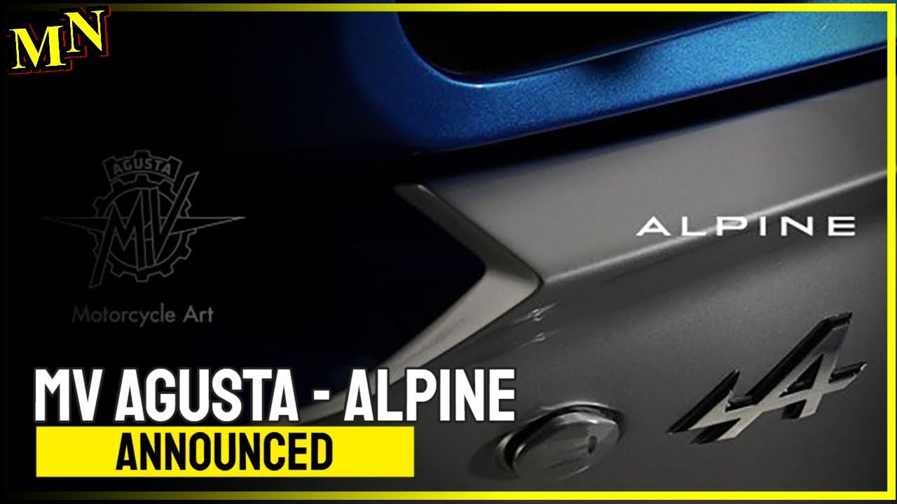 MV Agusta teasers model Alpine