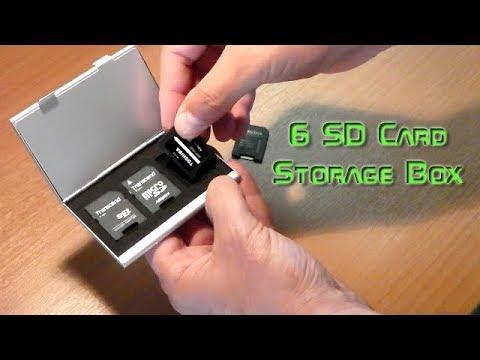 6 SD Memory Card Aluminum Storage Box - Banggood.com
