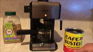 How to use Mr Coffee steam Espresso & Cappuccino maker