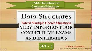 Multiple Choice Questions based on Data Structures | Set 1 | Competitive Exams