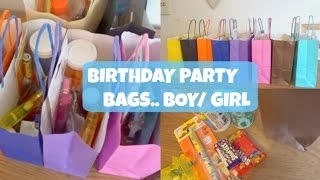 BIRTHDAY PARTY BAGS.. BOY & GIRL IDEAS! | EVERYDAY MAY 26
