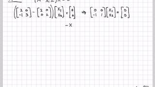 The previous video on this playlist used the matrix diagonalization A = PDP^1 to simplify a computation.  In this video we show how to diagonalize A by explicitly  constructing the matrices P and D.  If A has unique eigenvalues, D should be a diagonal matrix with eigenvalues along the diagonal while P will have eigenvectors as its columns.