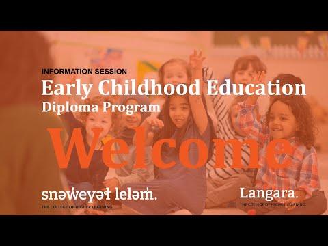 Early Childhood Education, Diploma Program | INFORMATION ...